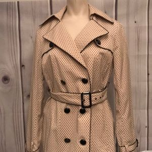 Tan and polka dot White House black market coat